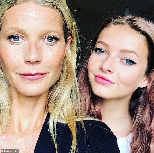 Unique: The Goop founder named her first child Apple. She is pictured here with her daughter, 15, in a recent snap