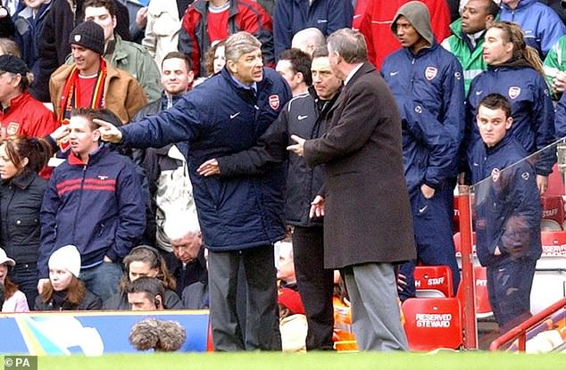 The rivalry between Arsenal boss Arsene Wenger and Manchester United manager Sir Alex Ferguson (right) is one of the defining ones of the Premier League era