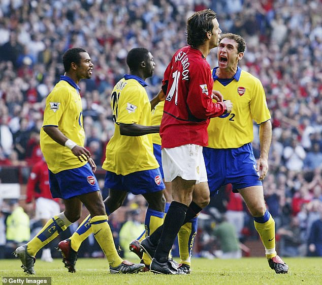 Meetings between United and Arsenal were often tempestuous affairs, such as Martin Keown's reaction to Ruud van Nistelrooy's penalty miss in September 2003