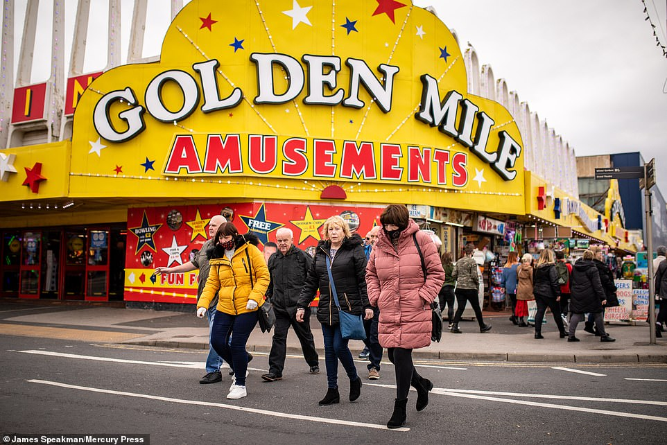 October is traditionally one of the busiest periods for the seaside town as crowds flock to see the Blackpool Illuminations during the school half-term holidays, butB&B owners said the new restrictions are a 'kick in the teeth', as guests cancel bookings following the new restrictions