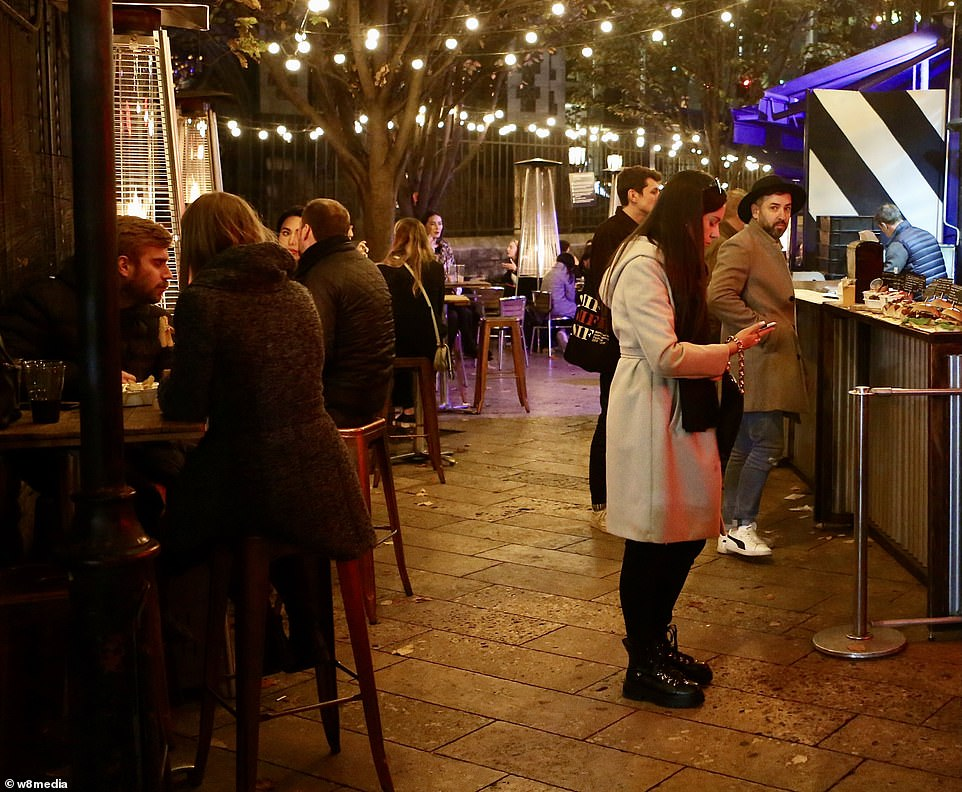 An outdoor food stand in borough market had plenty of business on Saturday night asKate Nicholls, Chief Executive of UK Hospitality, warned revenue across bars and restaurants in central London has plunged by 85 per cent